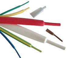 Zsugorcső, vékonyfalú, 2,4/1,2 mm, 2:1 zsugorodás , sárga, 1 m-es Tracon (ZS024S)