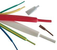 Zsugorcső, vékonyfalú, 9,5/4,8 mm, 2:1 zsugorodás , zöld/sárga, 1 m-es Tracon (ZS095ZS)