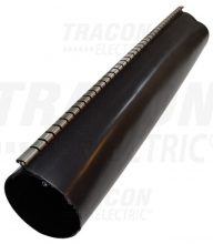 Cipzáras gyantás zsugorcső, 180/50 mm 2:1/3:1 zsugorodás, fekete, 1 m-es Tracon (  ZSJR180/1 )