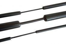 Zsugorcső, vékonyfalú, 24/8 mm, 3:1 zsugorodás , fekete, 1 m-es Tracon (ZSV240)