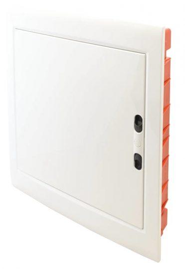 Tracon EDSSN-18/2 Műanyag kiselosztó, 36 modul, 2 sor, teli sík ajtóval, IP40, süllyesztett