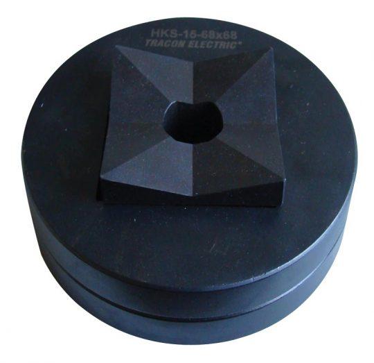 Tracon HKS-15-43X43 Kivágó szerszámfej 48×48mm keretméretű táblaműszerekhez D=43×43