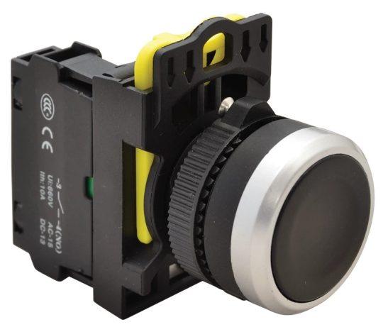 Tracon NYK3-BK Egyszerű nyomókapcsoló, fekete 1×NO, 5A/230V AC-15, IP65