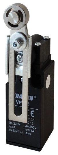 Tracon VP145 Helyzetkapcsoló, lengőkar-görgő 1×NO+1×NC, 6A/230V AC, 30-60mm, IP65