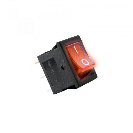 USE AKV 01 Világítós billenőkapcsoló, 12V, 1ák, piros ( AKV 01 )