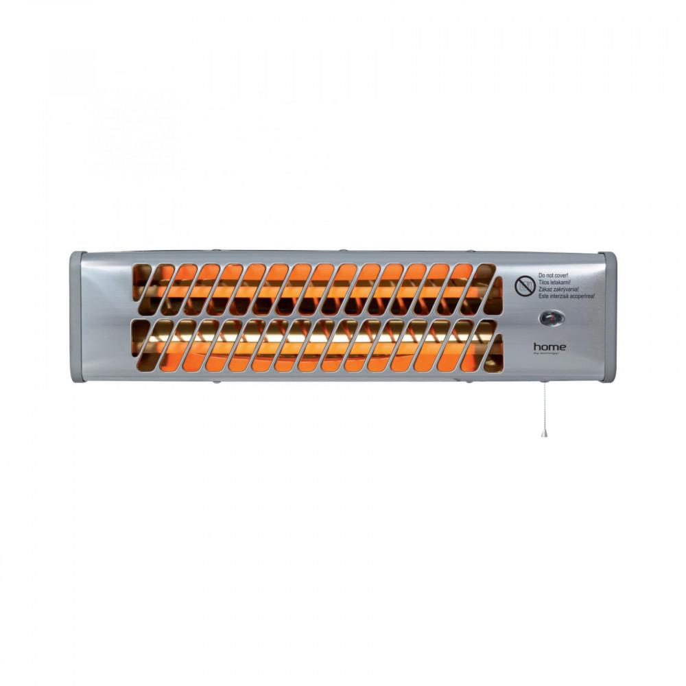 Home FK 24 elektromos, kültéri, fali, kvarccsöves hősugárzó fűtőtest, ezüst színben, max 1200 W teljesítménnyel, IPX4 védelemmel HOME (FK 24)