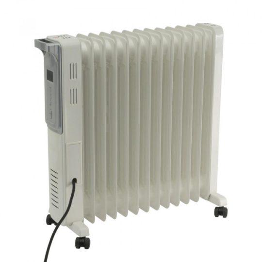 Home FKO 13 LCD elektromos olajradiátor, szürke színben, 13 tagú, max 2500 W teljesítménnyel, elektronikus termosztáttal HOME (FKO 13 LCD)