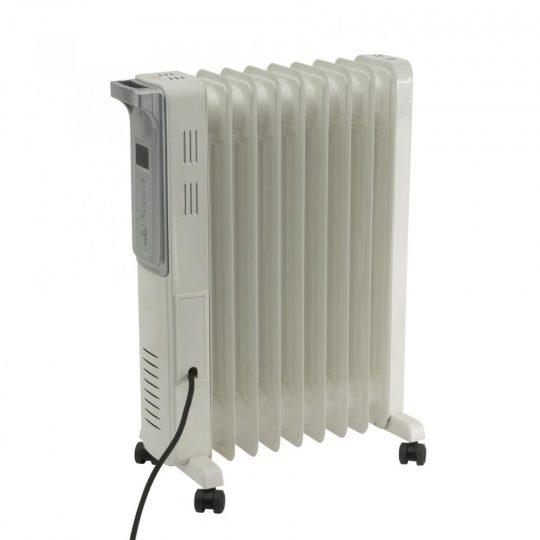 Home FKO 9 LCD elektromos olajradiátor, szürke színben, 9 tagú, max 2000 W teljesítménnyel, elektronikus termosztáttal HOME (FKO 9 LCD)