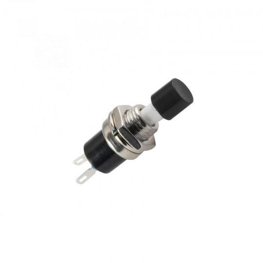 USE SP 02/BK Nyomógomb, 250 V, 1ák, mini, fekete, záró ( SP 02/BK )