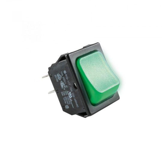 USE STV 02 Világítós billenőkapcsoló, 250V, 2ák, zöld ( STV 02 )