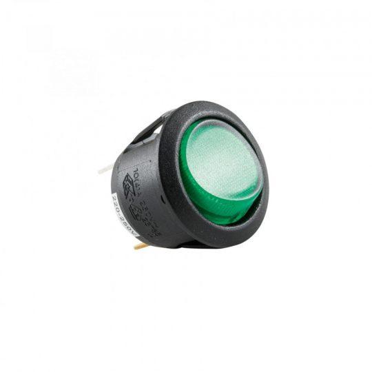 USE STV 08 Világítós billenőkapcsoló, 250V, 1ák, zöld ( STV 08 )