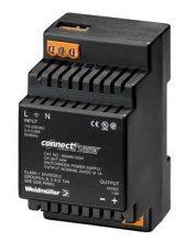 Weidmüller, CP SNT, 9928890005, tápegység 1 fázisú, 24W, 5V DC kimenettel, 2A, 100...240 V AC, 50/60 Hz, CP SNT(WEIDMÜLLER 9928890005)